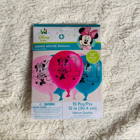 disney baby Other - Minnie Mouse 1st birthday Balloon set 15 piece NIB